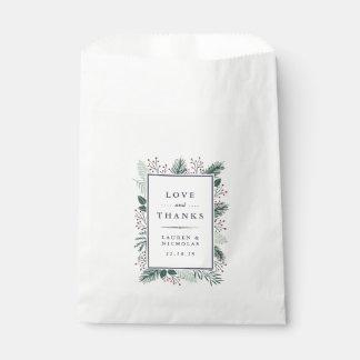 Sachets En Papier Mariage de houx et de pin