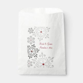 Sachets En Papier Mariage de vacances de flocon de neige d'hiver