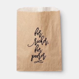Sachets En Papier Mariage en lettres de main chic pour plus riche,