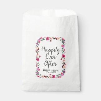 Sachets En Papier Mariage romantique de guirlande de fleur de conte