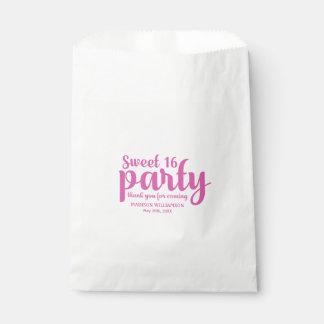 Sachets En Papier Merci de rose et blanc du bonbon 16 personnalisé