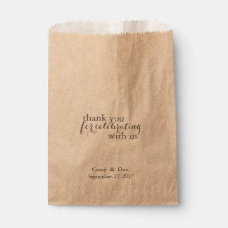 Sachets En Papier Merci pour célébrer le sac de faveur