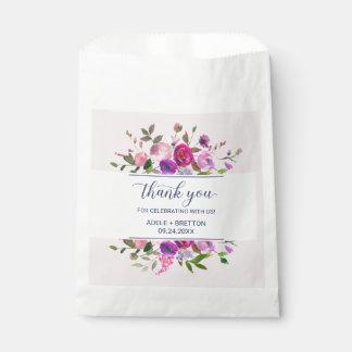 Sachets En Papier Merci romantique de jardin