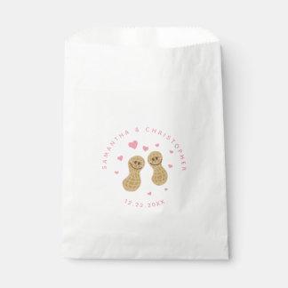 Sachets En Papier Merci rose lunatique mignon Nuts drôle de mariage
