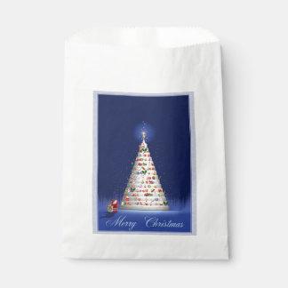Sachets En Papier Noël blanc d'arbre