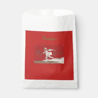 Sachets En Papier Noël vintage de patinage de Thunder_Cove de garçon
