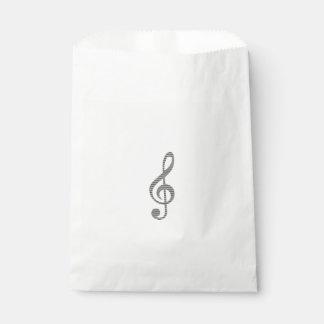 Sachets En Papier Note musicale - bandes - noire et blanche.