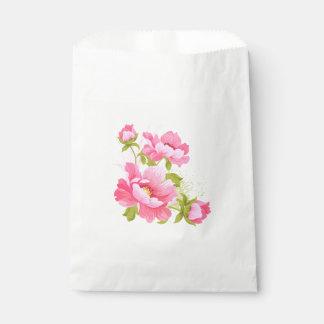 Sachets En Papier Partie rose florale de pivoines de mariage de