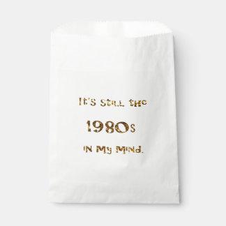 Sachets En Papier parties scintillantes d'or de nostalgie des années