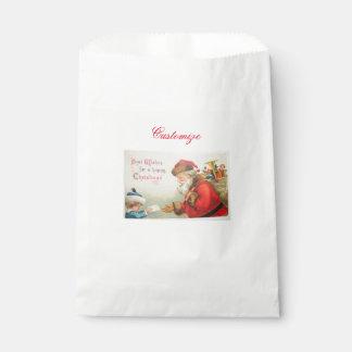 Sachets En Papier Père Noël et Noël vintage de nostalgie de garçon