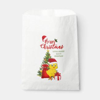 Sachets En Papier Petit Noël de poulet de bébé