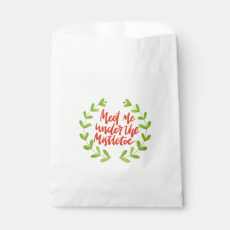 Sachets En Papier Rencontrez-moi sous le gui - guirlande de Noël