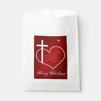 Sachets En Papier Rouge chrétien de Joyeux Noël
