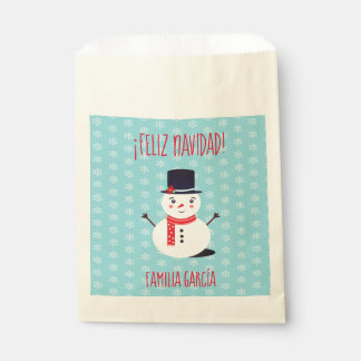"""Sachets En Papier Sac de cadeau de """"Feliz Navidad"""" avec le bonhomme"""