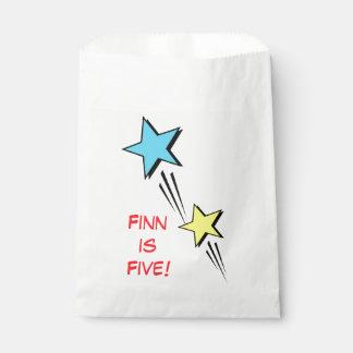 Sachets En Papier Sac de cadeau de super héros - étoiles