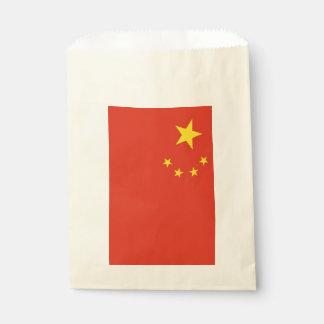 Sachets En Papier Sac de faveur avec le drapeau de la Chine