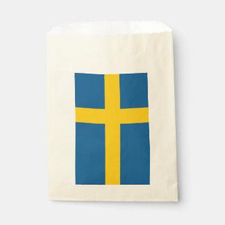 Sachets En Papier Sac de faveur avec le drapeau de la Suède