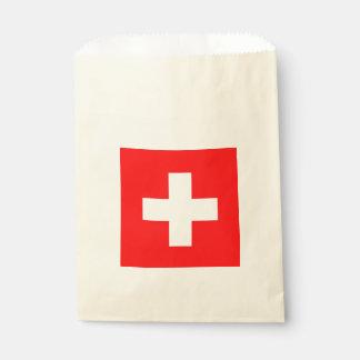Sachets En Papier Sac de faveur avec le drapeau de la Suisse