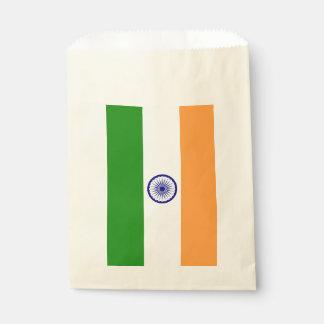 Sachets En Papier Sac de faveur avec le drapeau de l'Inde