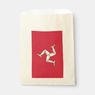 Sachets En Papier Sac de faveur avec le drapeau d'île de Man,