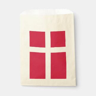 Sachets En Papier Sac de faveur avec le drapeau du Danemark