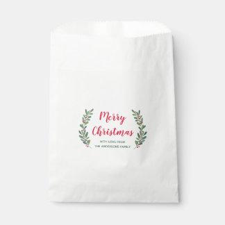 Sachets En Papier Sac de faveur de Noël de brins d'hiver