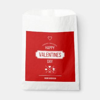 Sachets En Papier Sac de faveur de symboles de Valentine de heureuse