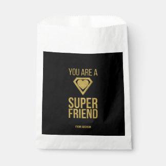 Sachets En Papier Sac de faveur de Valentine d'ami de super héros