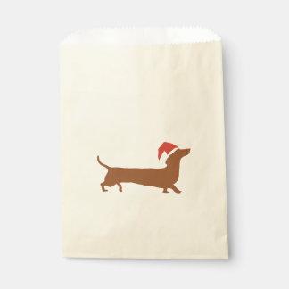 Sachets En Papier Sac mignon de faveur de Noël de teckel de Père