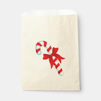 Sachets En Papier Sac mignon de faveur de sucre de canne de Noël