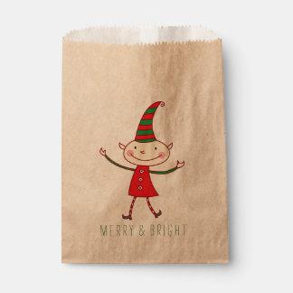 Sachets En Papier Sac mignon magique de faveur de vacances d'Elf de