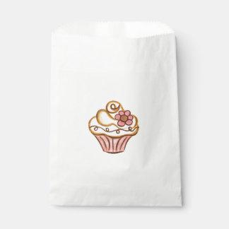 Sachets En Papier Sac rose de cadeau d'anniversaire de boulangerie