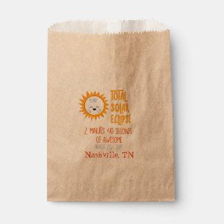 Sachets En Papier Sac total de faveur d'éclipse solaire d'Emoji avec