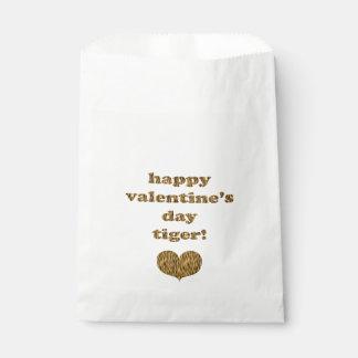 Sachets En Papier Tigre de heureuse Sainte-Valentin ! Copie de tigre