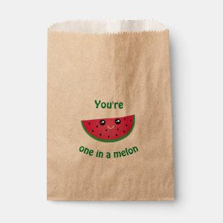 Sachets En Papier Un dans une pastèque mignonne drôle de Kawaii de