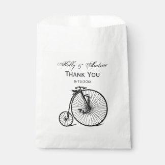 Sachets En Papier Vélo vintage de bicyclette de vélo sur rail