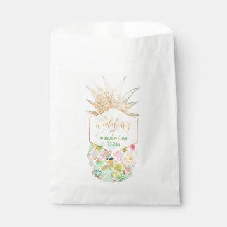 Sachets En Papier Vert hawaïen d'ananas/menthe de PixDezines Aloha
