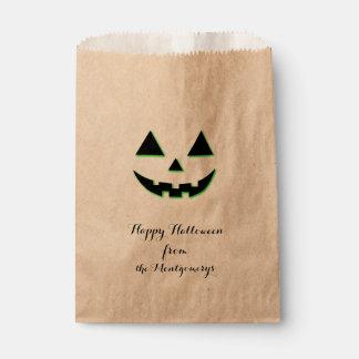 Sachets En Papier Visage de citrouille de Halloween