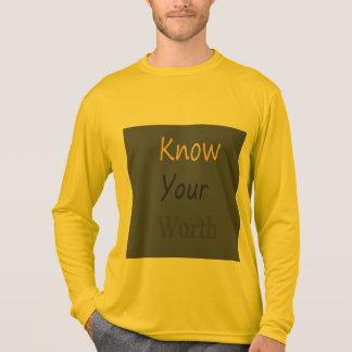 Sachez le votre en valeur le long T-shirt de