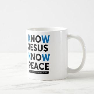 Sachez que Jésus savent la paix, aucune censure Mug