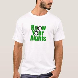 SACHEZ VOS DROITES - état policier/prison/lutte T-shirt