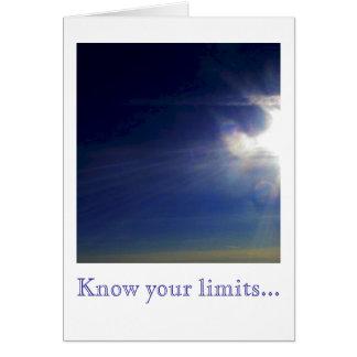 Sachez vos limites… cartes de vœux