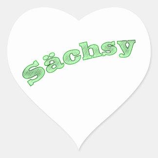 sächsy sexy la Saxe Sticker Cœur
