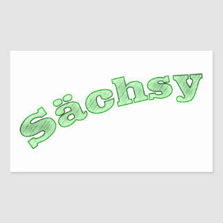 sächsy sexy la Saxe Sticker Rectangulaire