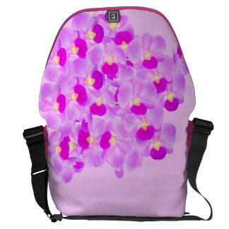 Sacoche Bouquet rose d'orchidée