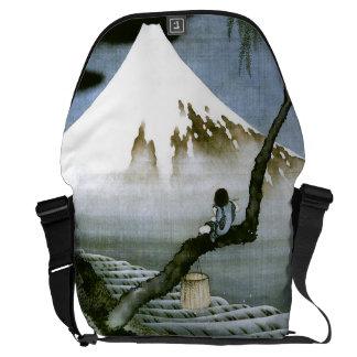 Sacoche garçon de 北斎 et beaux-arts de Mt Fuji