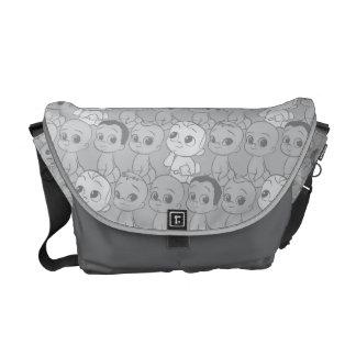 Sacoche Le motif gris du bébé | de patron