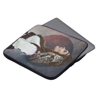 """Sacoche pour ordinateur portable """"Lady Owl"""". Housses Pour Ordinateur Portable"""