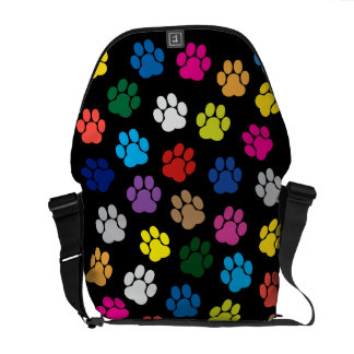 Sacoche Sac messenger coloré à pattes de chien