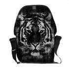 Sacoche Sacs messenger noirs et blancs à cru de tigre